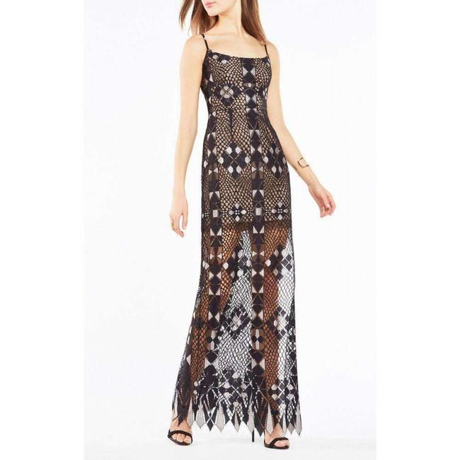 Item - Evelina Geometric Lace Maxi 4 Cocktail Dress