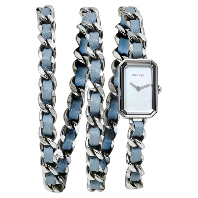 Item - Mother Of Pearl Stainless Steel Leather H4327 Première Rock Quartz Women's Wristwatch 16 Mm Watch