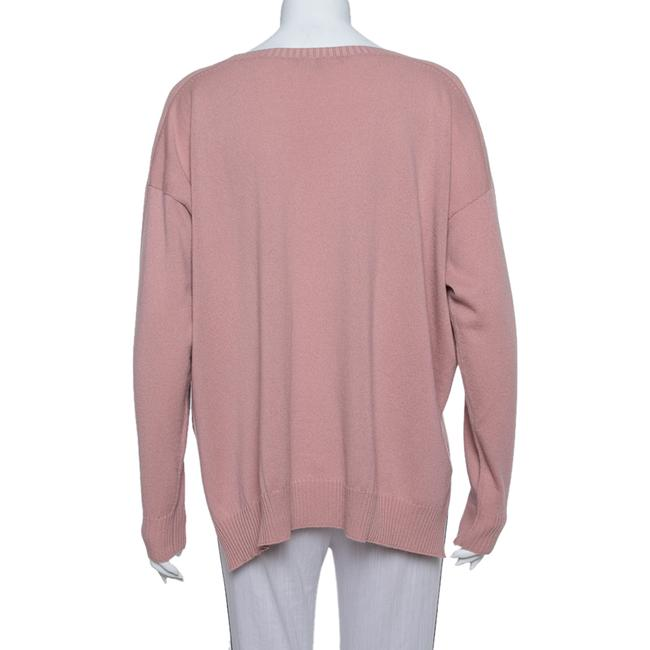 Gucci L Pink Cashmere Round Neck Sweater/Pullover Gucci L Pink Cashmere Round Neck Sweater/Pullover Image 3