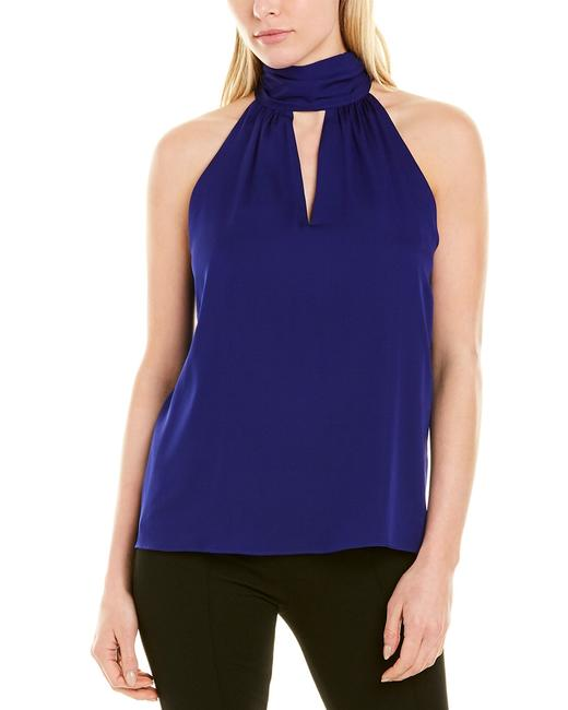 MILLY Emma Tie Neck Silk-blend Top 040882 Blouse 14115343350007 Image 1