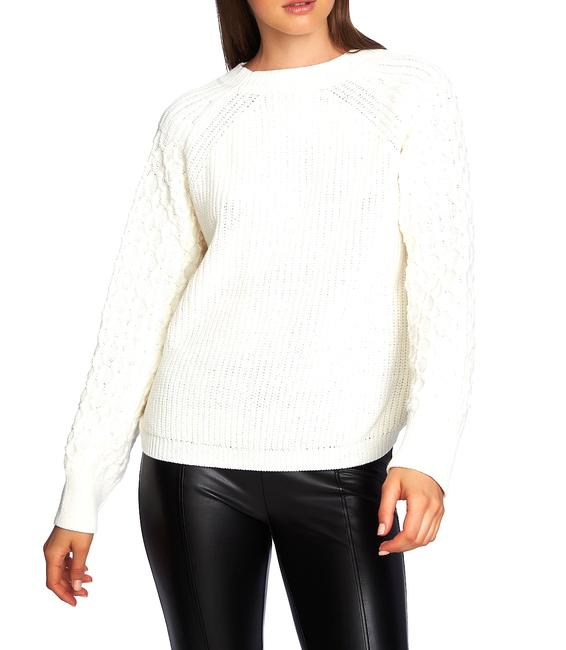 Item - Crewneck Textured-sleeve Sweater/Pullover