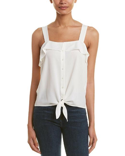 Item - Ruffled Button-front Sleeveless Top Blouse