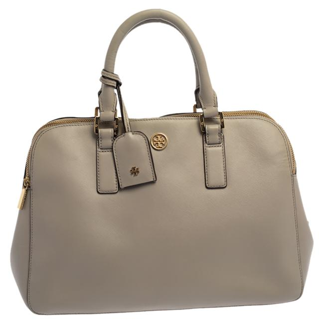 Item - Robinson Taupe Leather Double Zip Dome Satchel