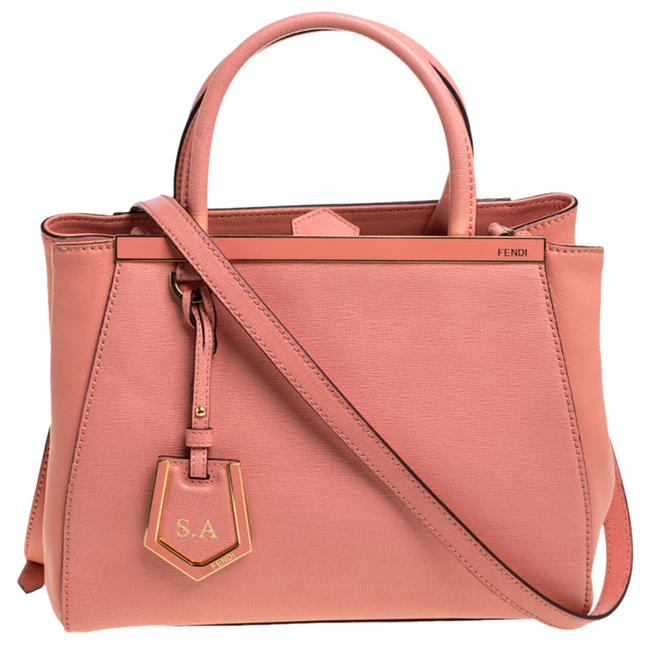 Item - Peach Leather Small 2jours Tote