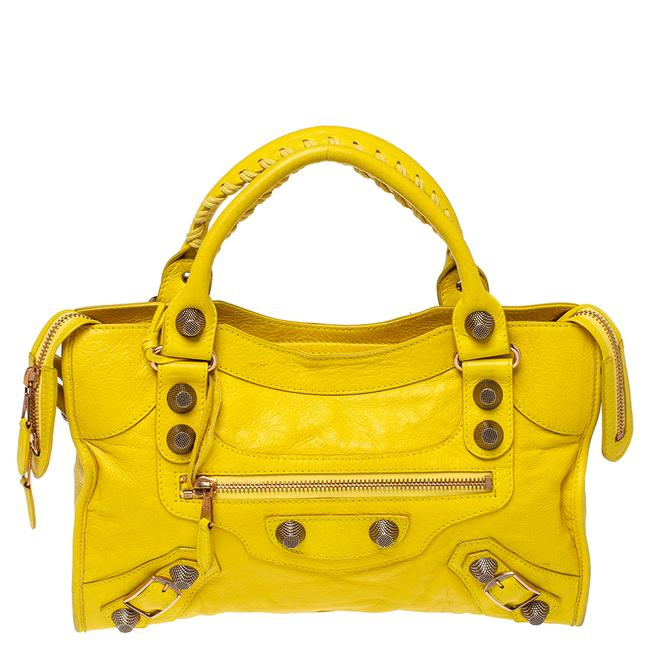 Item - Yellow Leather Rggh City Tote