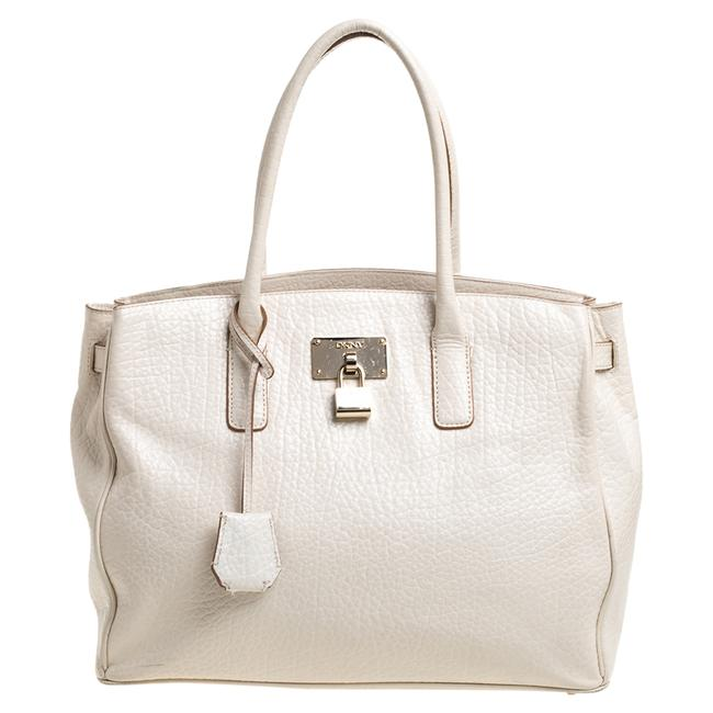 Item - Off White Leather Shopper Tote