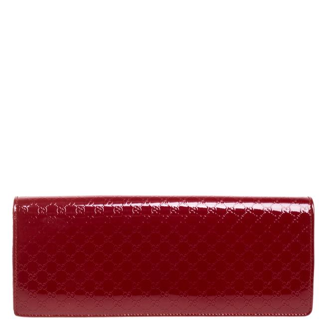 Item - Broadway Red Microguccissima Patent Leather Clutch