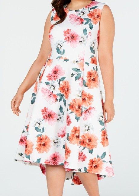 Item - Women's Pink Size 18w Plus A-line Floral High Low Cocktail Dress
