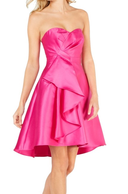 Item - Women's A-line Pink Size 2 Strapless High-low Cocktail Dress