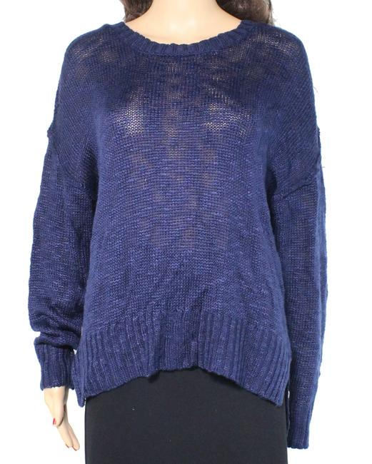 Item - L Navy Blue Size Large Junior Hi Low Ribbed Sweater/Pullover