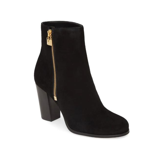 Item - Women's Suede Leather Frenchie Ankle Black Boots/Booties