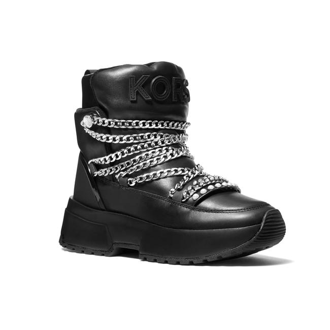 Item - Women's Leather Cassia Chain Black Boots/Booties