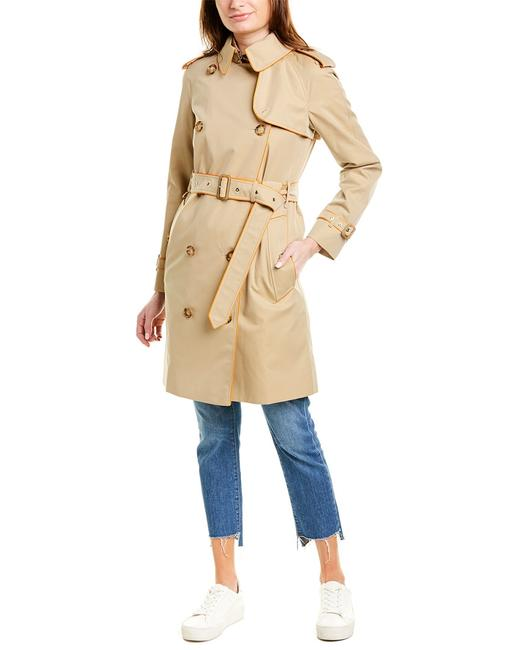 Burberry Piped Gabardine Trench 8024934 Coat Burberry Piped Gabardine Trench 8024934 Coat Image 1