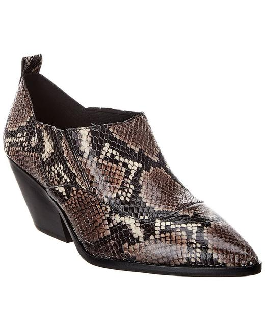 Item - Jetera Snake-embossed Leather Vc-jetera Boots/Booties