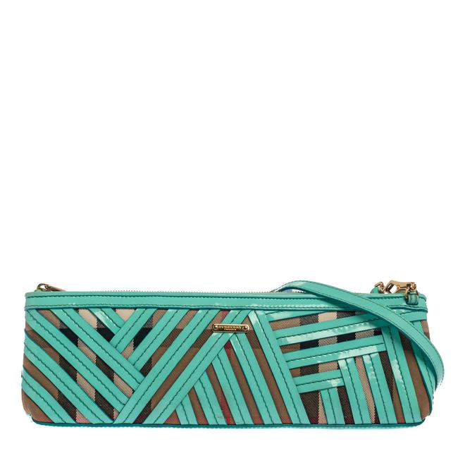 Item - Green/Beige Canvas and Patent Leather Prorsum Parmoor Clutch