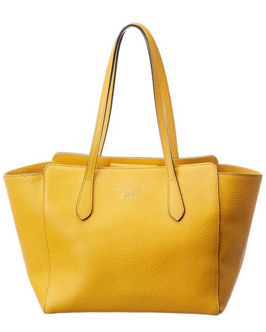 Item - Pre-owned Yellow Leather 1999666 Tote