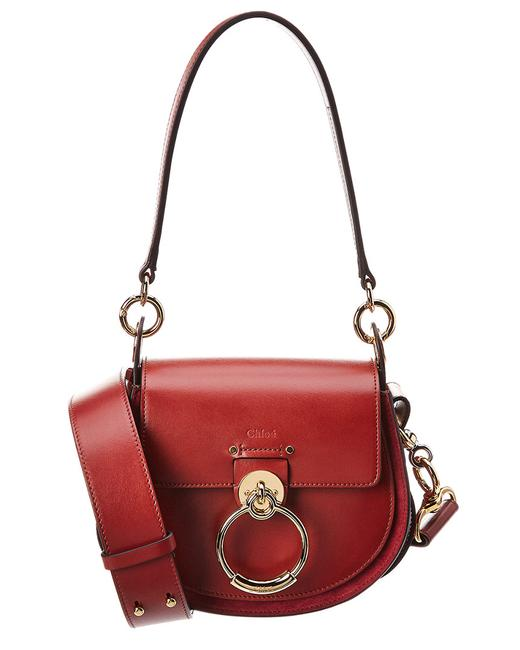 Chloé Small Leather & Suede Chc18ws153 A37 27s Shoulder Bag Chloé Small Leather & Suede Chc18ws153 A37 27s Shoulder Bag Image 1