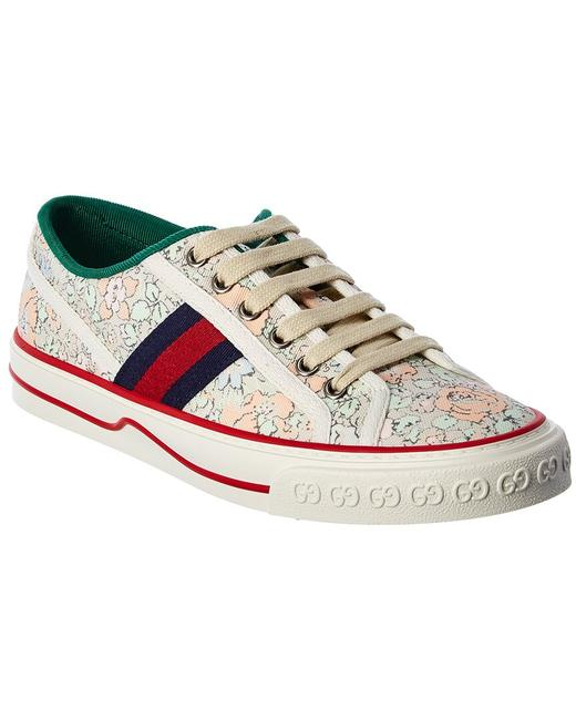 Gucci Tennis 1977 Liberty London Canvas Sneaker 606110 2i410 3960 Athletic Gucci Tennis 1977 Liberty London Canvas Sneaker 606110 2i410 3960 Athletic Image 1