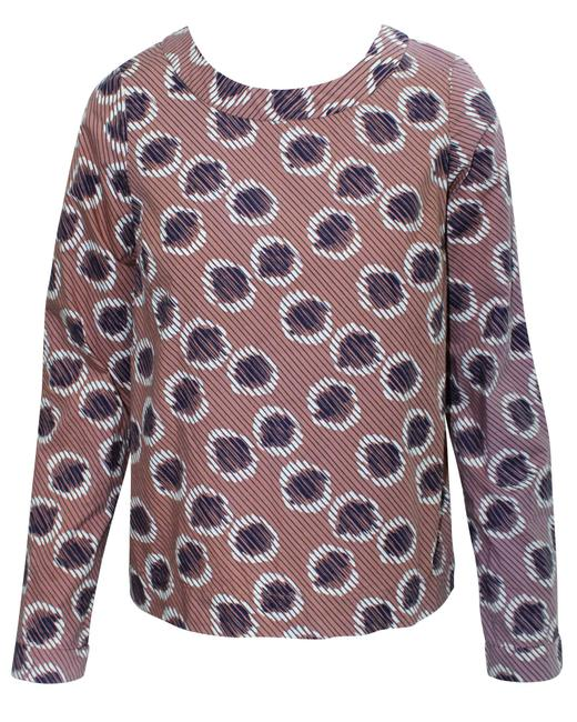 Item - Brown Pattern -pre Owned Condition Excellent S Blouse