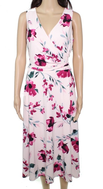 Item - By Women's Pink Size 16 A-line Floral Cocktail Dress