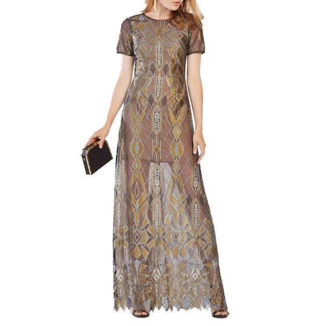 Item - Taliah Metallic Geometric Lace Gown Hosiery