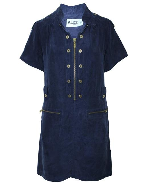 Item - Navy Blue with Brass Hardware -pre Owned Cocktail Dress