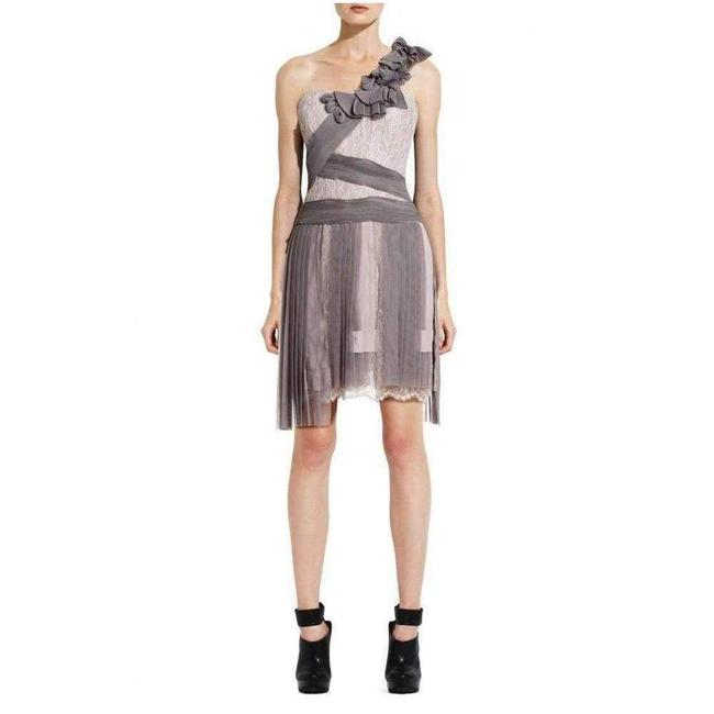 Item - Runway Pleated Contrast Lace Short Casual Dress