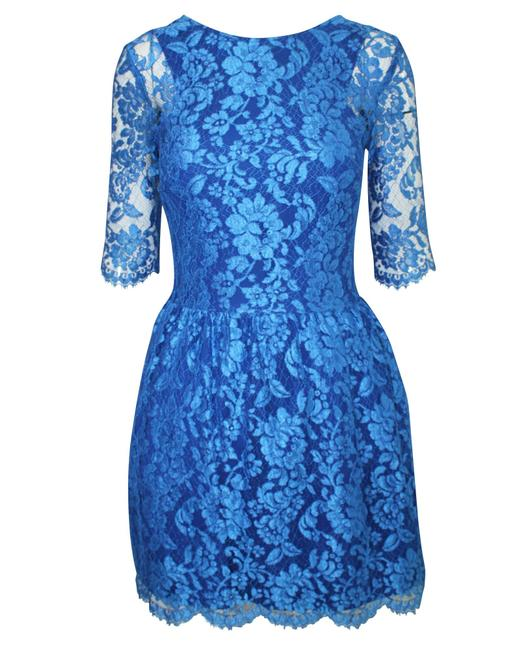 Item - Blue Lace -pre Owned Condition Good Us8 Cocktail Dress