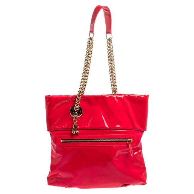 Item - Neon Pink Patent Leather Chain Tote