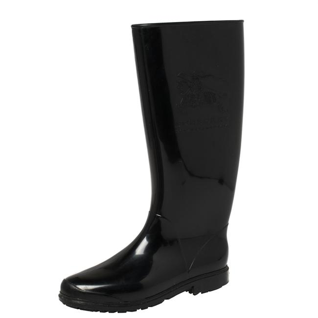 Item - Black Rubber Knight Rain Size 36 Boots/Booties