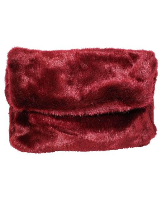 Item - Burgundy Faux Fur -pre Owned Condition Very Good Clutch
