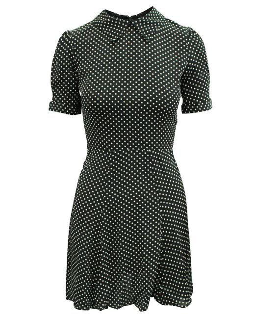 Item - Short Polka Dot with Collar -pre Owned Condition Cocktail Dress