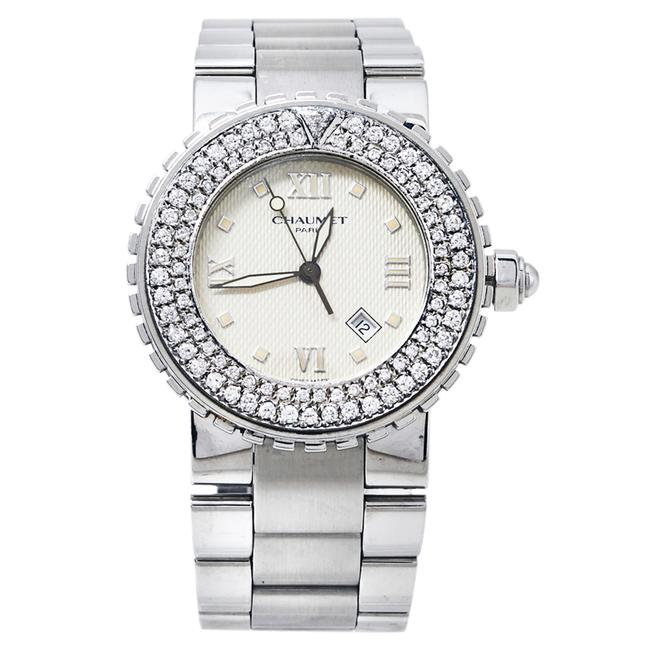 Item - Beige Stainless Steel Diamonds Class One 628 Women's Wristwatch 36mm Watch