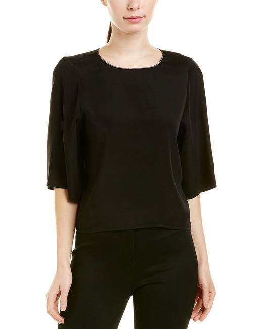 Item - Heritage Silk-trim Top Kdi011271t-black Blouse