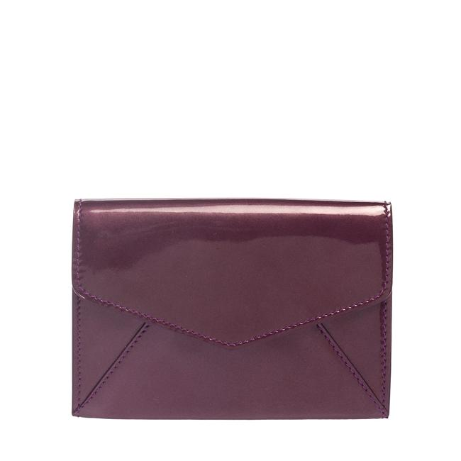 Item - Yves Purple Patent Leather Coin Wallet