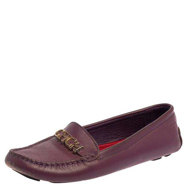Item - Purple Leather Logo Size 37 Loafers