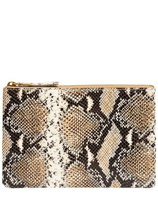 Item - The Snake-embossed Leather Pouch Mb032 Clutch