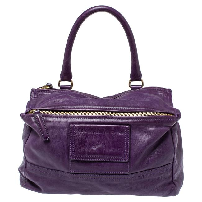 Item - Purple Leather Pandora Shoulder Bag