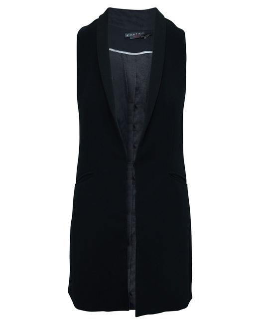Item - Black Long Vest -pre Owned Condition Very Good Us2 Coat