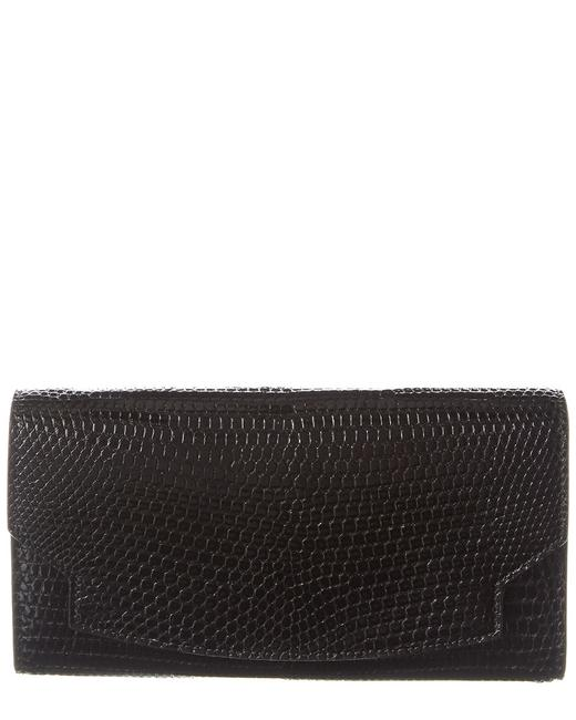 Item - Lady Croc-embossed Leather Wallet W1223e2 Black Accessory