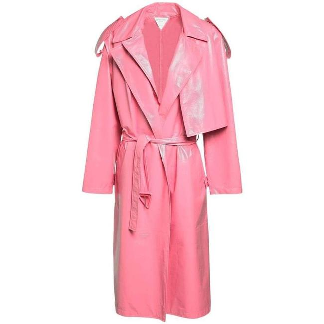 Item - Convertible Crinkled Glossed-leather Trench It 36 Coat