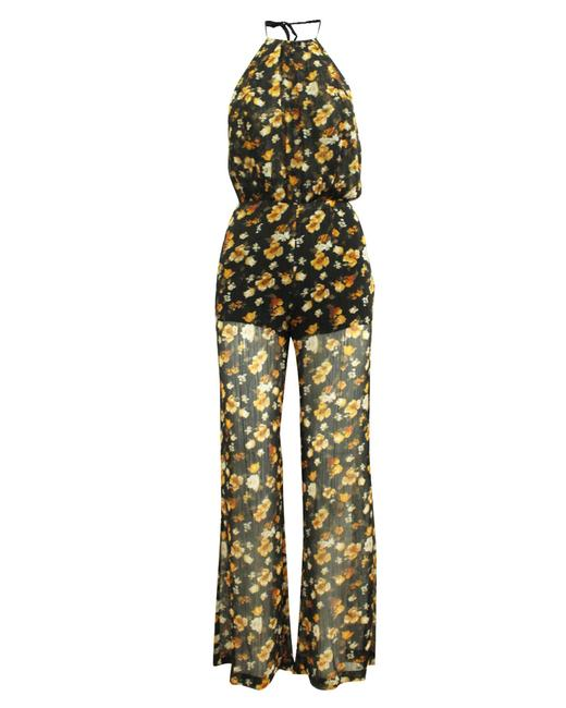 Item - Yellow Print with Open Back -pre Owned Condition Romper/Jumpsuit
