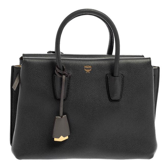 Item - Milla Dark Grey Leather Medium Tote