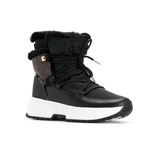 Item - Women's Cassia Mk Logo Ankle Black Brown Boots/Booties