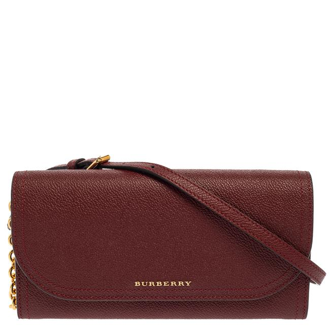 Item - on Chain Burgundy Leather Henley Wallet