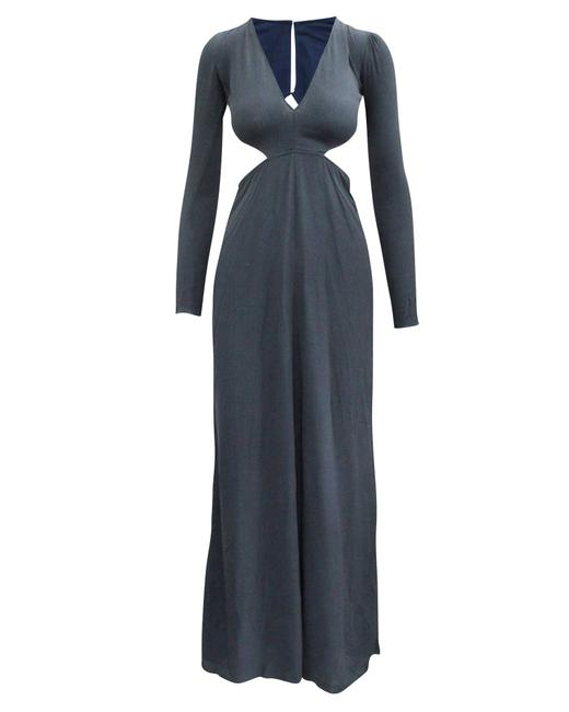 Item - Maxi Navy Blue with Open Back -pre Owned Condition Cocktail Dress