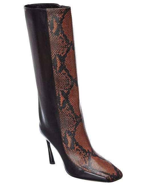 Item - Snake-embossed Leather Mabyn 85 Zzl Black Cuoio Boots/Booties