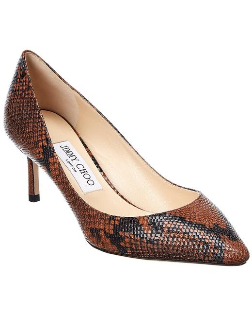Item - Snake-embossed Leather Romy 60 Nke Cuoio Pumps