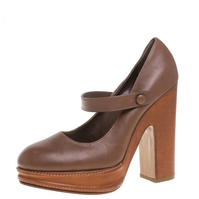 Item - Tan Leather Mary Jane Size 40 Pumps