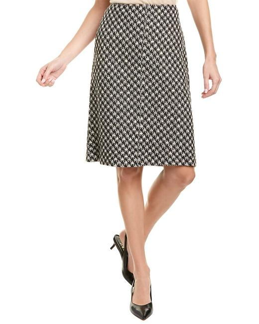 Item - Houndstooth Wool-blend Midi K71y021 Skirt
